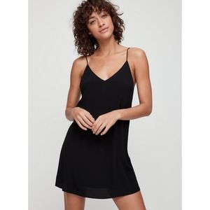 Aritzia Wilfred Free Black Vivienne Slip Dress